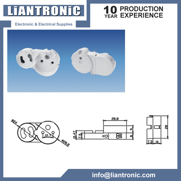 T8 Lamp Holder Socket Tombstone title=