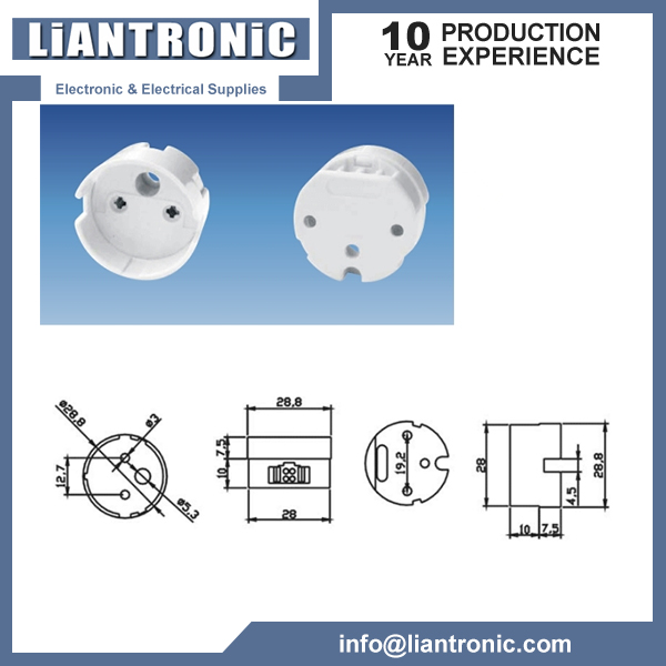 T8 Lamp Holder Socket Tombstone