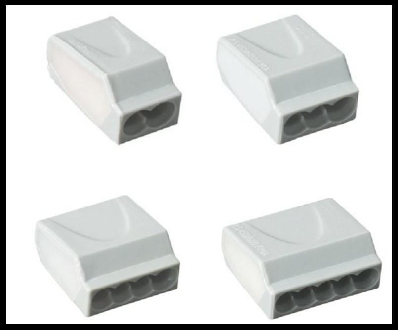 Push-In Wire Connector for Junction Boxes 3Poles