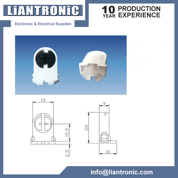 G5 Plastic Fluorescent Lamp Holder title=