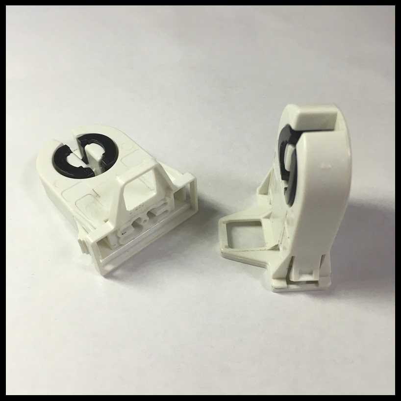 Easy Install Plastic T8 G13 Tombstone For Fluorescent Lamps