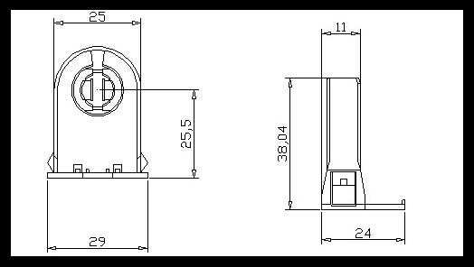 china supplier g13 t8 fluorescent lampholder for led  u0026 fluorescent tube lights